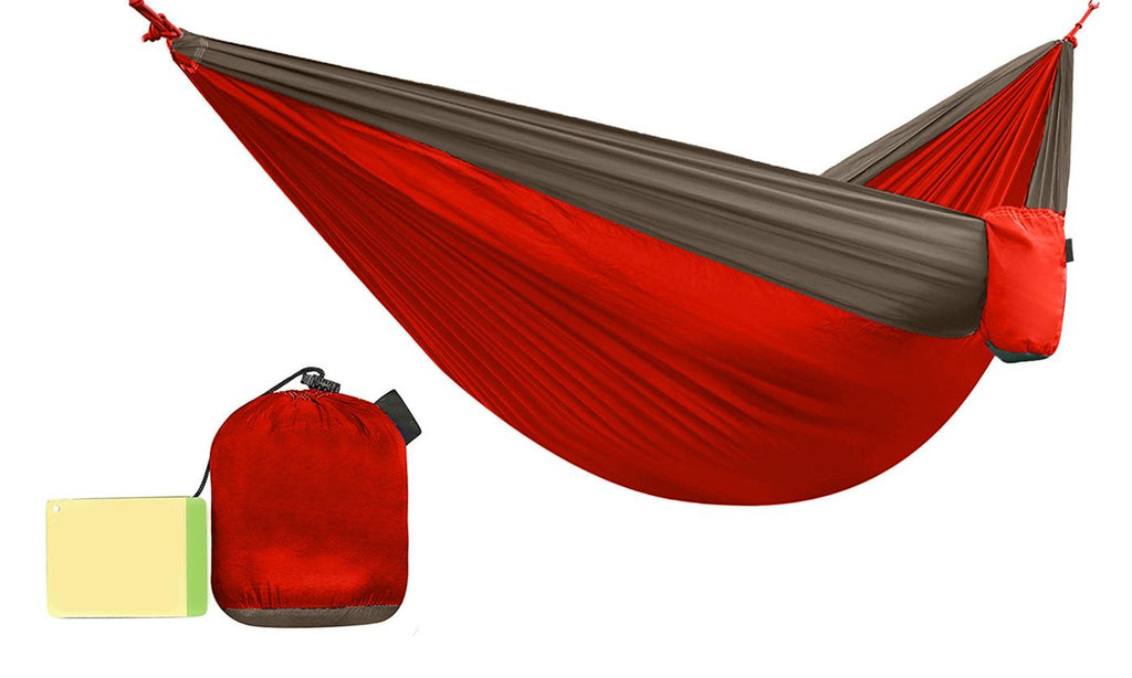 Two-Person Multi-Season and Multi-Purpose Nylon Hammock-Red/Green-Daily Steals