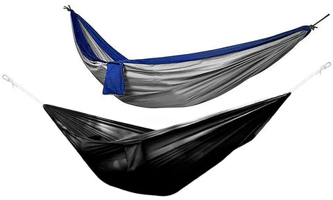 Daily Steals-Two-Person Multi-Season and Multi-Purpose Nylon Hammock-Outdoors and Tactical-Blue/Grey-