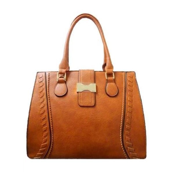 Vintage Satchel Leather Tote-Camel-Daily Steals