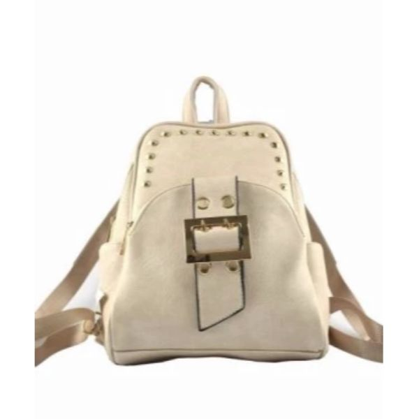 WK Leather Belted Backpack-Apricot-Daily Steals