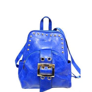 WK Leather Belted Backpack-Blue-Daily Steals