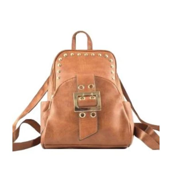 WK Leather Belted Backpack-Camel-Daily Steals