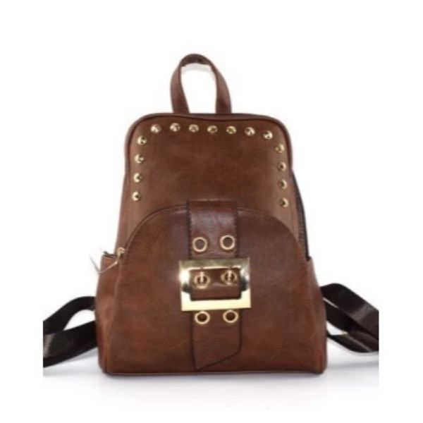 WK Leather Belted Backpack-Coffee-Daily Steals