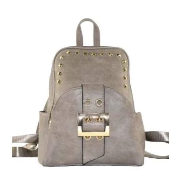 WK Leather Belted Backpack-Grey-Daily Steals