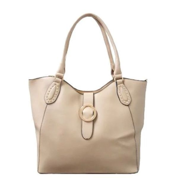 Fashion Leather Handbag-Apricot-Daily Steals