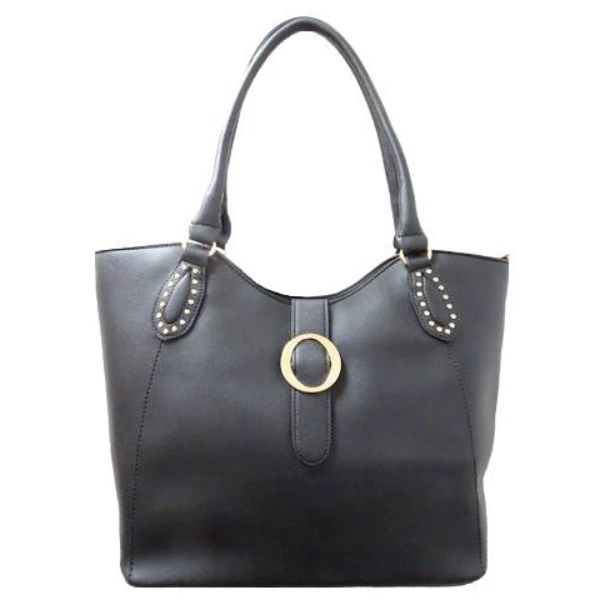 Fashion Leather Handbag-Black-Daily Steals