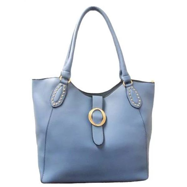 Fashion Leather Handbag-Blue-Daily Steals