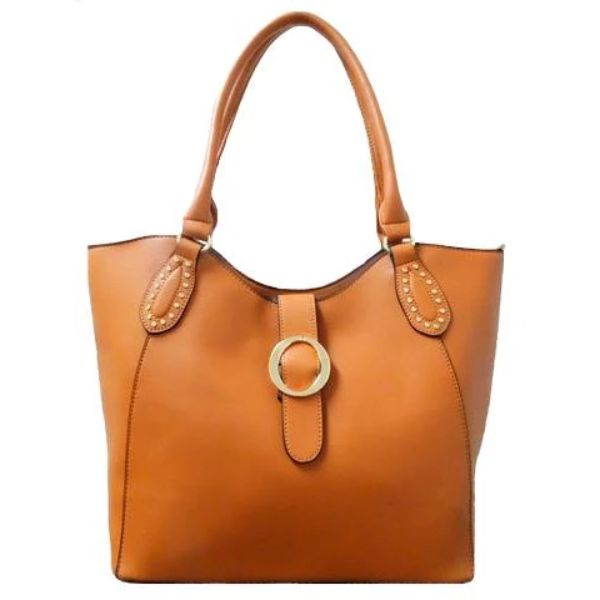 Fashion Leather Handbag-Camel-Daily Steals