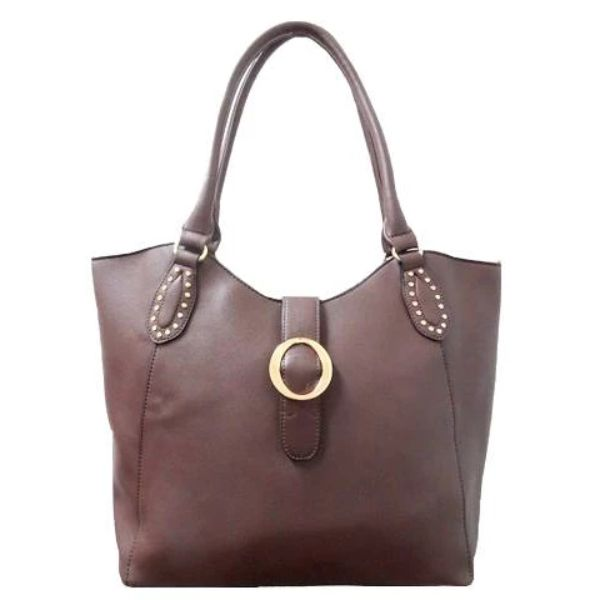 Fashion Leather Handbag-Coffee-Daily Steals