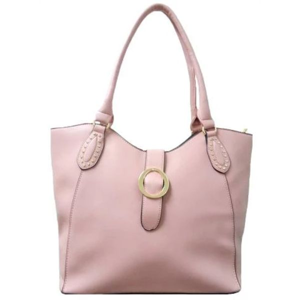 Fashion Leather Handbag-Pink-Daily Steals