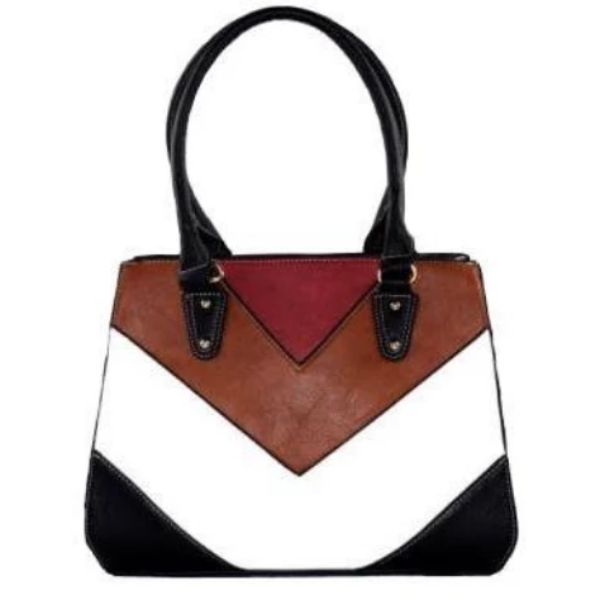 Barbados Leather Colorful Printed Leather Handbag-Black-Daily Steals