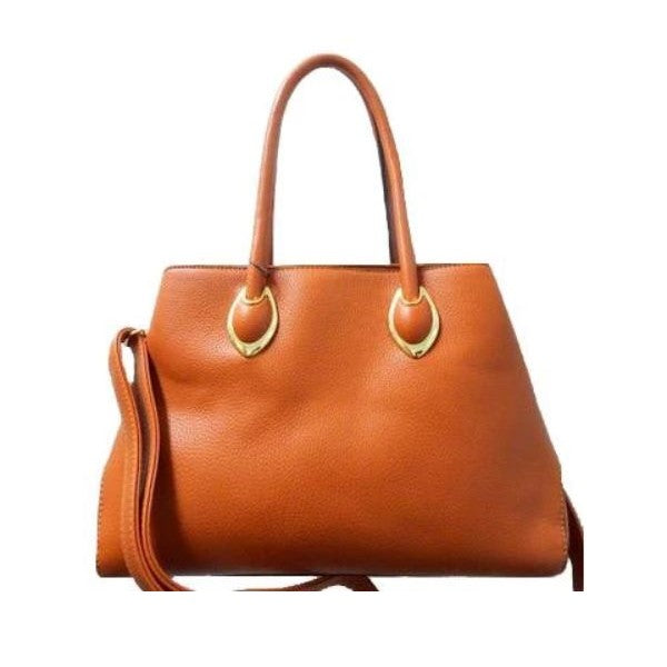 Solid Tote Vintage Style Leather Handbag-Camel-Daily Steals