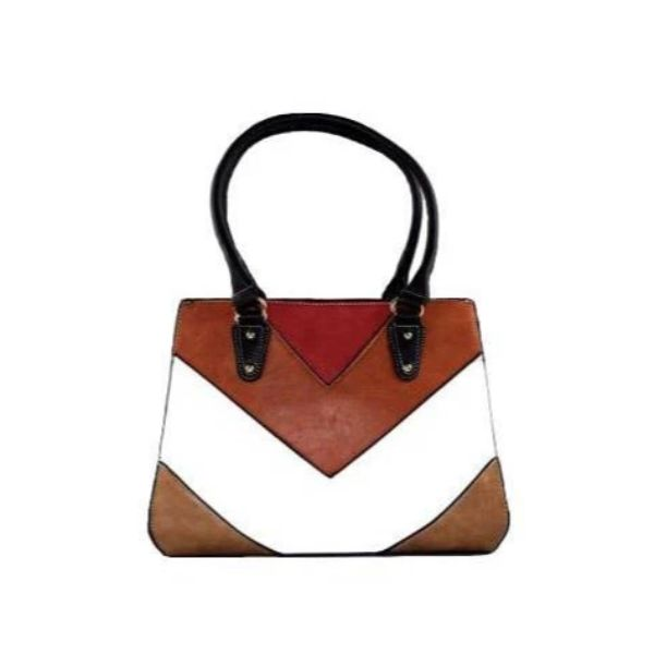 Barbados Leather Colorful Printed Leather Handbag-Camel-Daily Steals