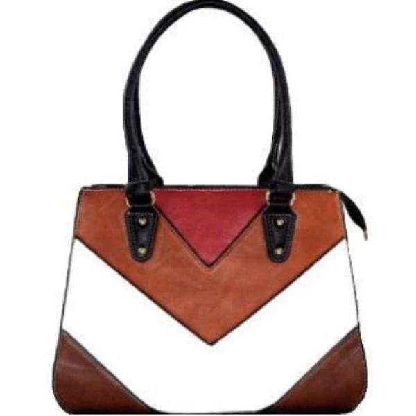 Barbados Leather Colorful Printed Leather Handbag-Coffee-Daily Steals