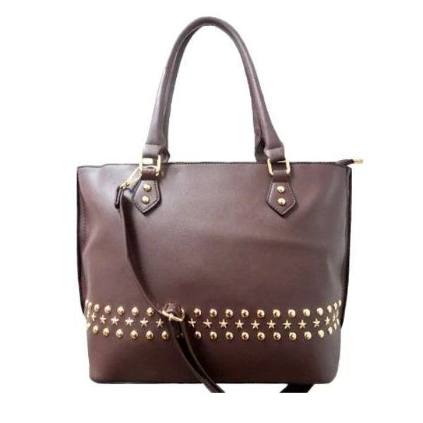 WK Fashion Leather Tote Handbag-Coffee-Daily Steals