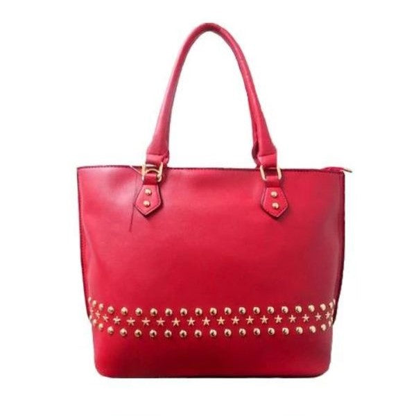 WK Fashion Leather Tote Handbag-Red-Daily Steals