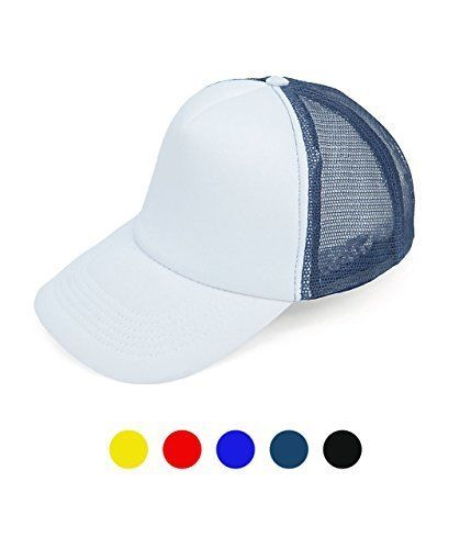 [BOGO] Two Color Foam Front Trucker Hat with Mesh Back-Yellow-Daily Steals