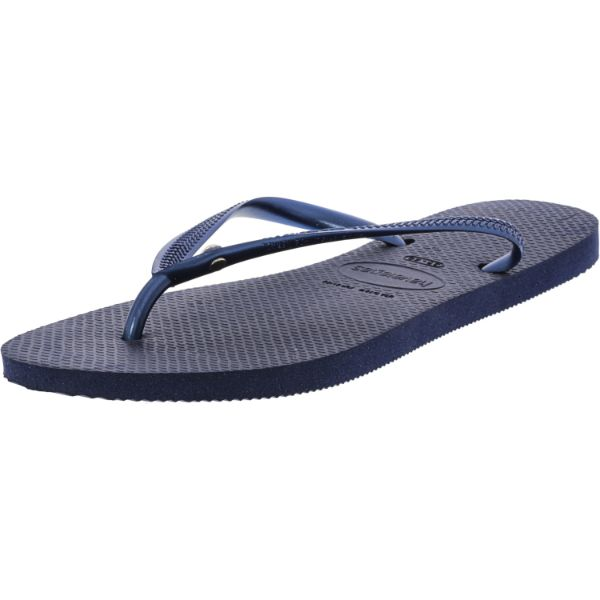 Havaianas Slim Crystal Glamour Sw Navy Blue Rubber Sandal - 10 Womens / 9 Mens-Daily Steals