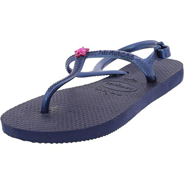 Daily Steals-Havaianas Girl's H. Kids Freedom Sl Cf Rubber Flat Shoes-Accessories-Blue-2 Girls-