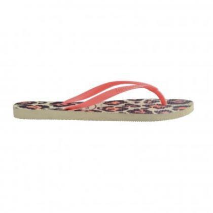 Daily Steals-Havaianas Girl's Hav Slim Animals Ankle-High Rubber Flat Shoes-Accessories-Beige-2 Girls-