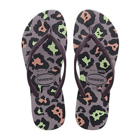 Daily Steals-Havaianas Girl's Hav Slim Animals Ankle-High Rubber Flat Shoes-Accessories-Purple-2 Girls-