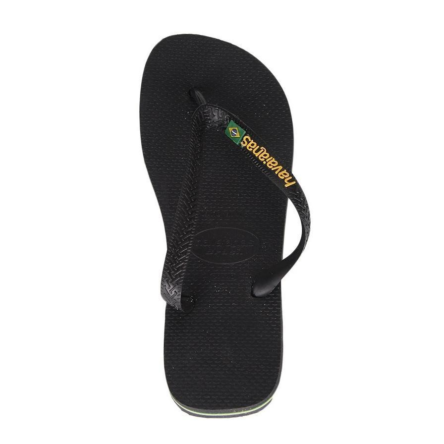 Daily Steals-Havaianas H. Brasil Logo Black Rubber Sandal - 7 Womens / 6 Mens-Accessories-