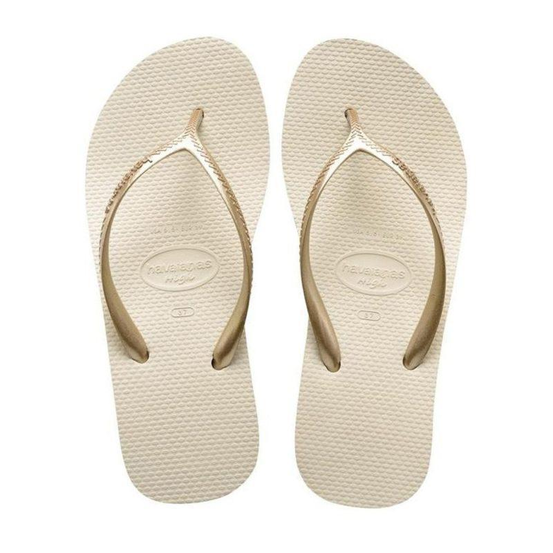 Daily Steals-Havaianas Women's H. High Fashion Beige Rubber Sandal - Size 8-Accessories-