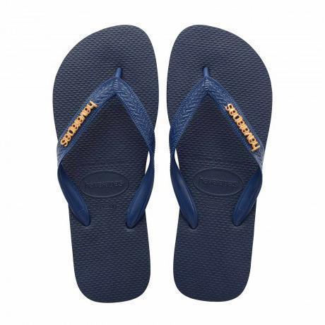 Daily Steals-Havaianas Women's H. L. Metallic Rubber Sandals-Accessories-Blue-10 Womens-