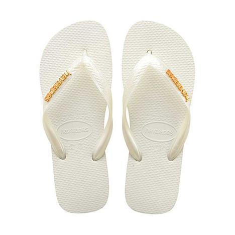 Daily Steals-Havaianas Women's H. L. Metallic Rubber Sandals-Accessories-White-10 Womens-