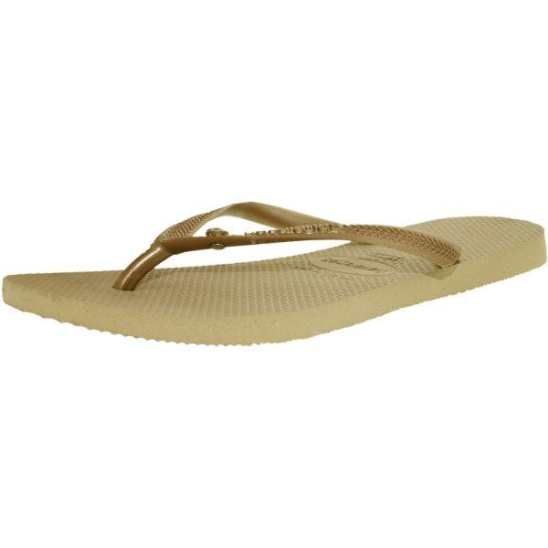 Daily Steals-Havaianas Women's H. Sl C Glamour Sw Sand Grey/Light Gold Rubber Sandal - 12W-Accessories-
