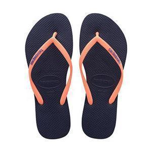 Daily Steals-Havaianas Women's H. Sl Logo Pop-Up Rubber Sandals-Accessories-Blue-10 Womens-