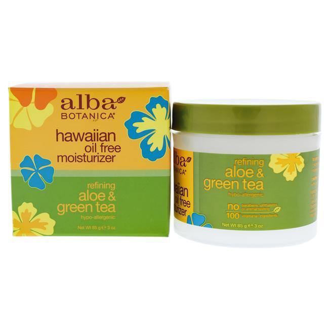 Daily Steals-Hawaiian Green Tea Oil Free Moisturizer by Alba Botanica for Unisex - 3 oz Moisturizer-Personal Care-