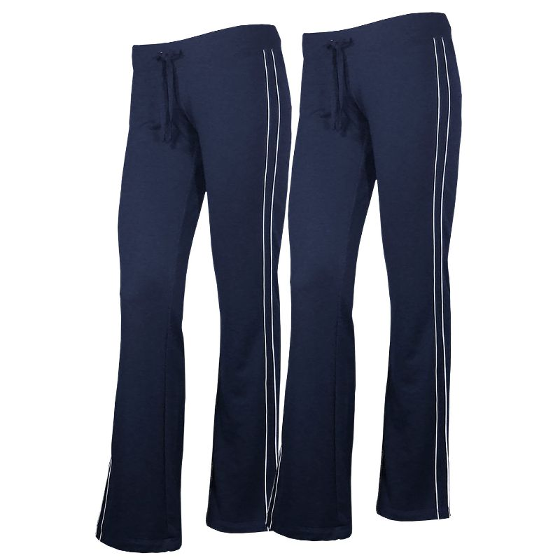 Women's French Terry Comfy Sweatpants - 1 or 2 Pack-Navy + Navy-2 Pack-XL-Daily Steals