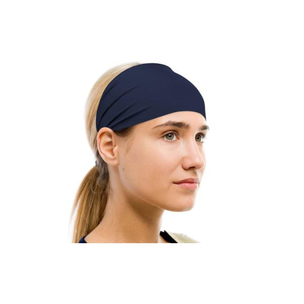 Unisex Moisture-Wicking Sweat Band - 2 Pack-Navy-Daily Steals