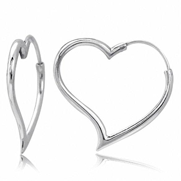 Daily Steals-Heart Hoop Earrings-Jewelry-