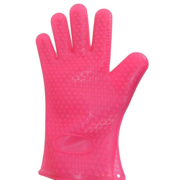 Heat Resistant Silicone Cooking Gloves-Pink-Daily Steals