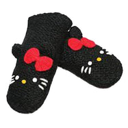 Hello Kitty Delux Knitwits Kids Mittens-Black-Daily Steals