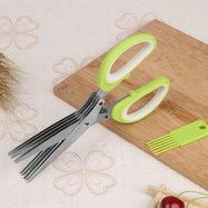 Herb Scissors With 5 Blades and Cover-