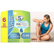 Gillette Venus Extra Smooth Women's Razor Blade - 6 Refills-Daily Steals