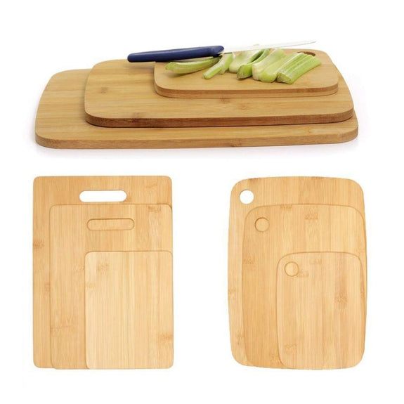 Bamboo Cutting Boards - Round Or Handle-Daily Steals