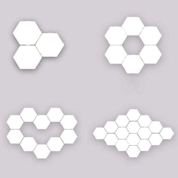Hexagonal Touch Sensitive Led Honeycomb Wall Night Lights 5 Pack