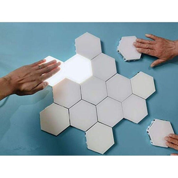 Hexagonal Touch Sensitive LED Honeycomb Wall Night Lights - 5 Pack-
