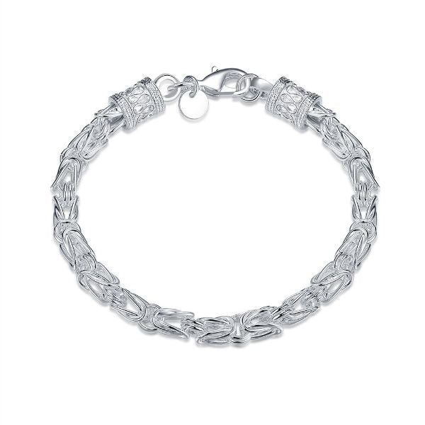 Silver Plated Classic Men's Bracelet - 3 Styles-Byzantine-Daily Steals