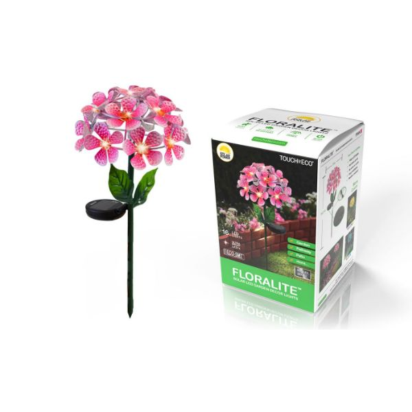 Solar LED Metal Flower Stake Lights - 1, 2, or 3 Pack-Pink-1-Pack-Daily Steals