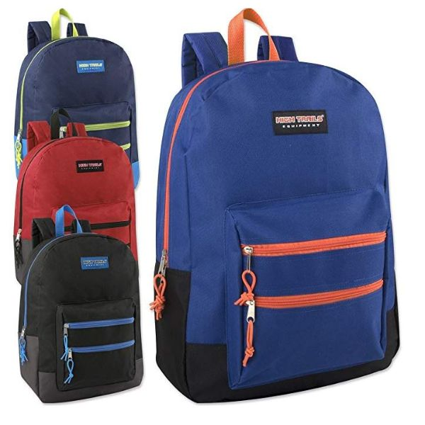 High Trails 18 Inch Double Zip Backpack - Assorted-Daily Steals