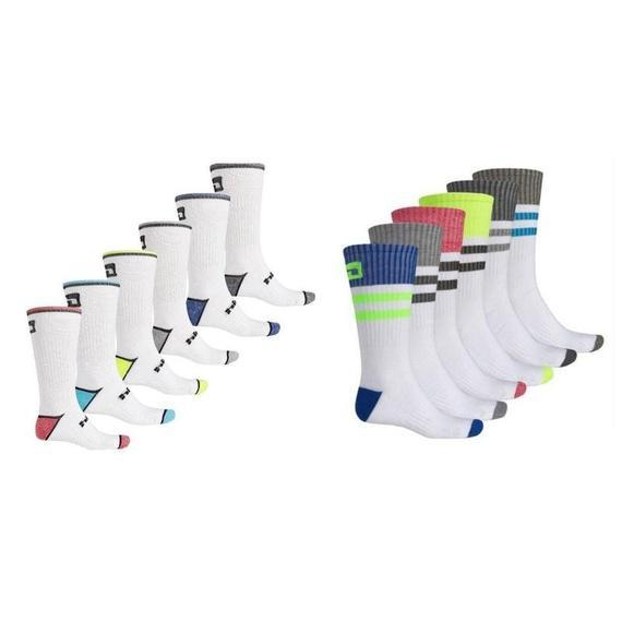 Daily Steals-Hind Hydra Men's Crew Sport Socks 12 Pairs-Men's Apparel-