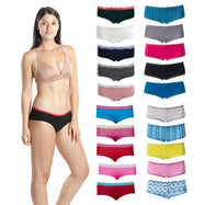 Hipster and Boyshorts Variety 10 Pack - Assorted Colors and Patterns-Small-