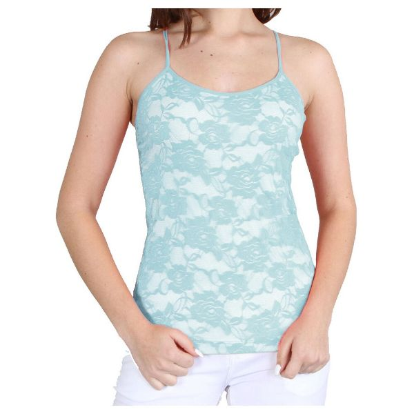 Women's Adjustable Camisole - One Size Fits Most-Pastel Blue-Daily Steals