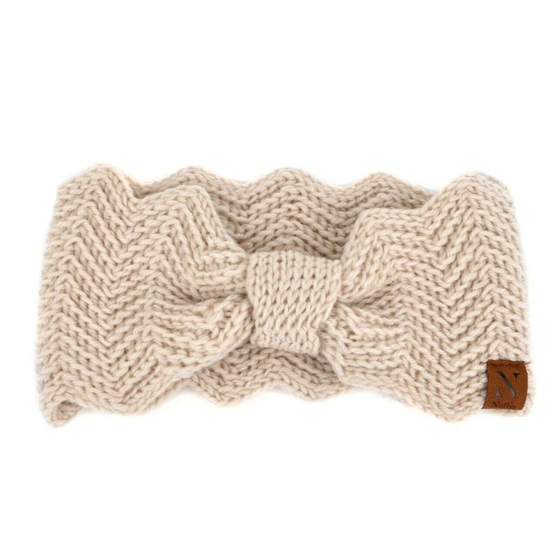 Nollia Women's Knotted Knit Winter Head Band-Beige-Daily Steals