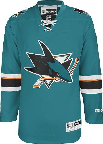 NHL San Jose Sharks herrcentrum Ice Team Färger Premier Hockey Jersey-M-Daily Steals
